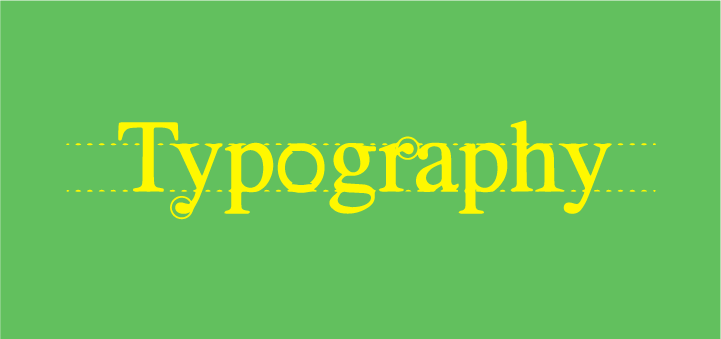 Take care of the typography