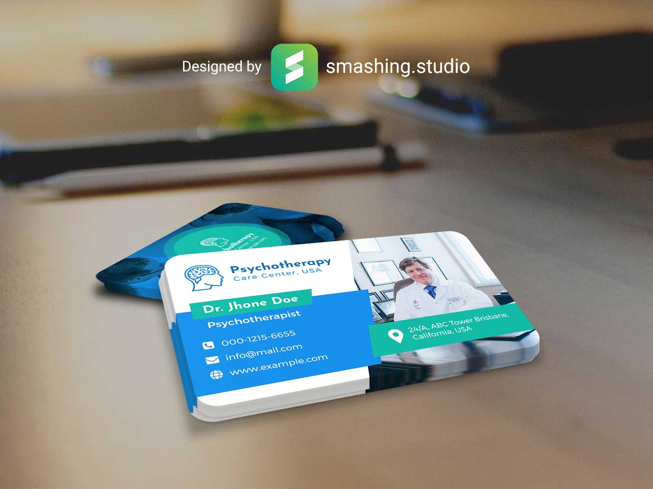 EM - Free Business Card Mockup