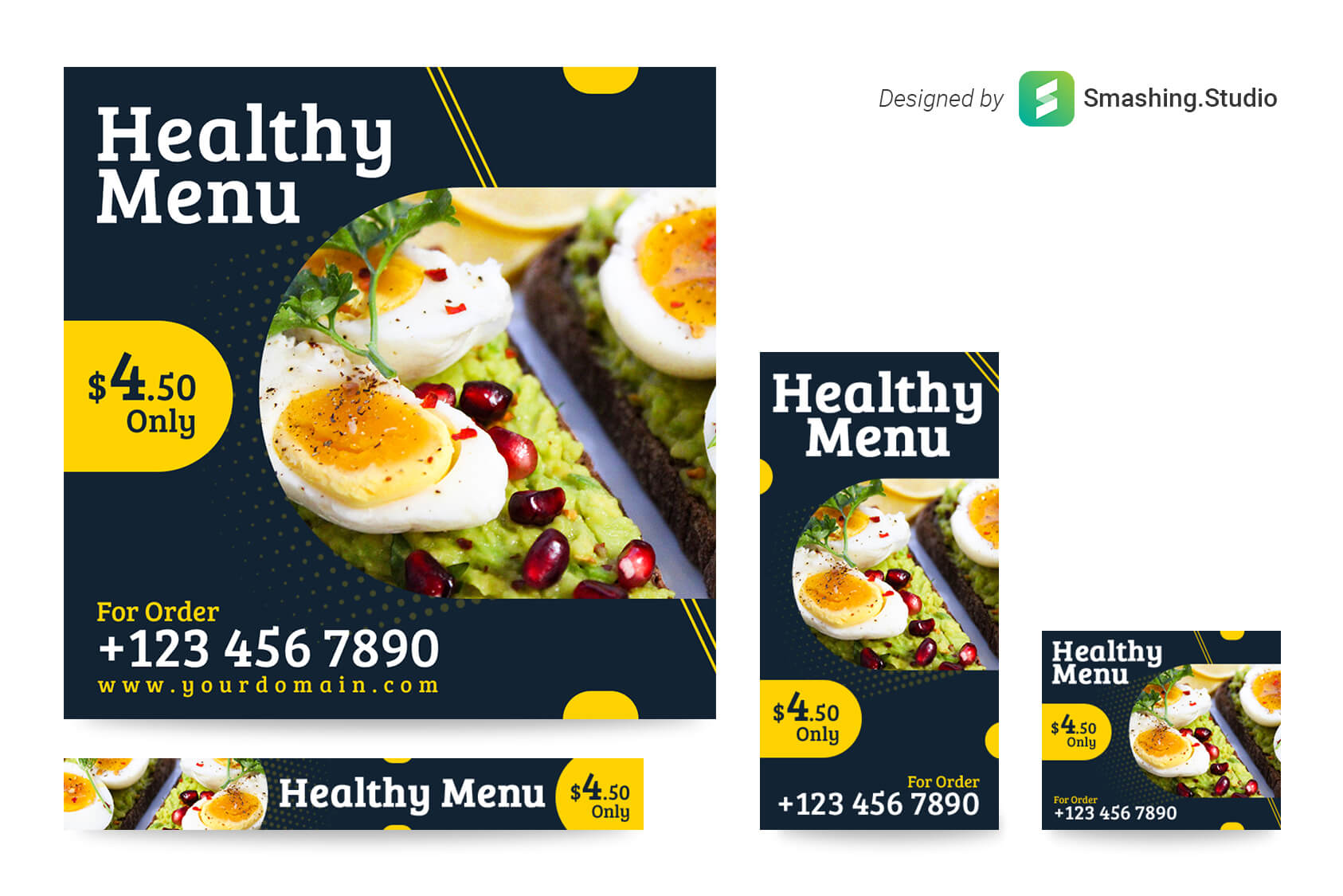 Free Food Menu Web Banner Set