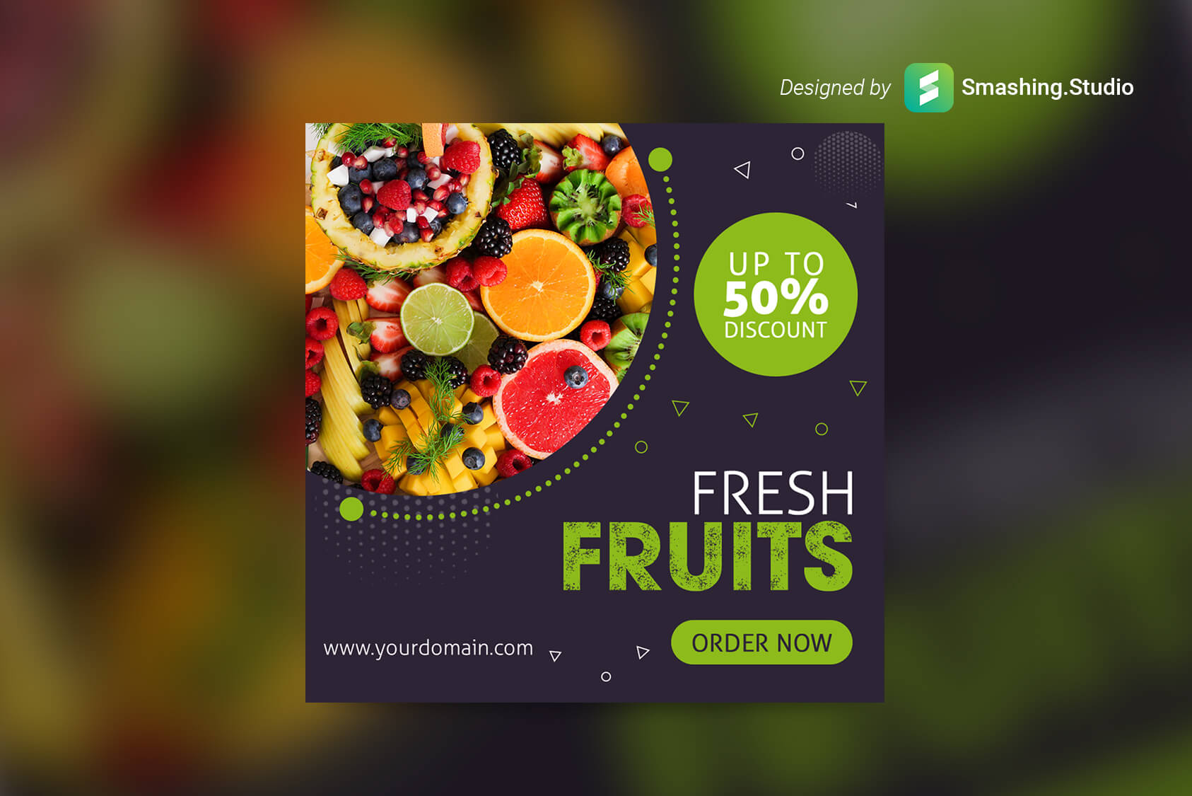 Free Fruits Shop Web Banner Set