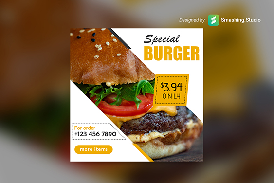 Burger Shop Web Banner Set