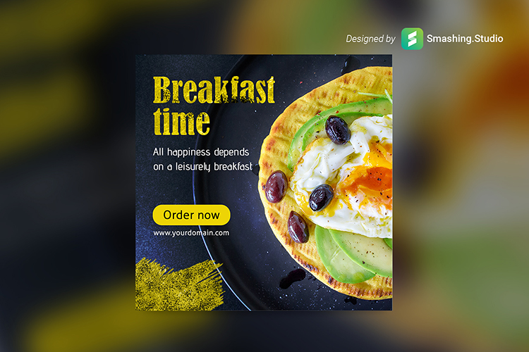 Breakfast Time Web Banner Set