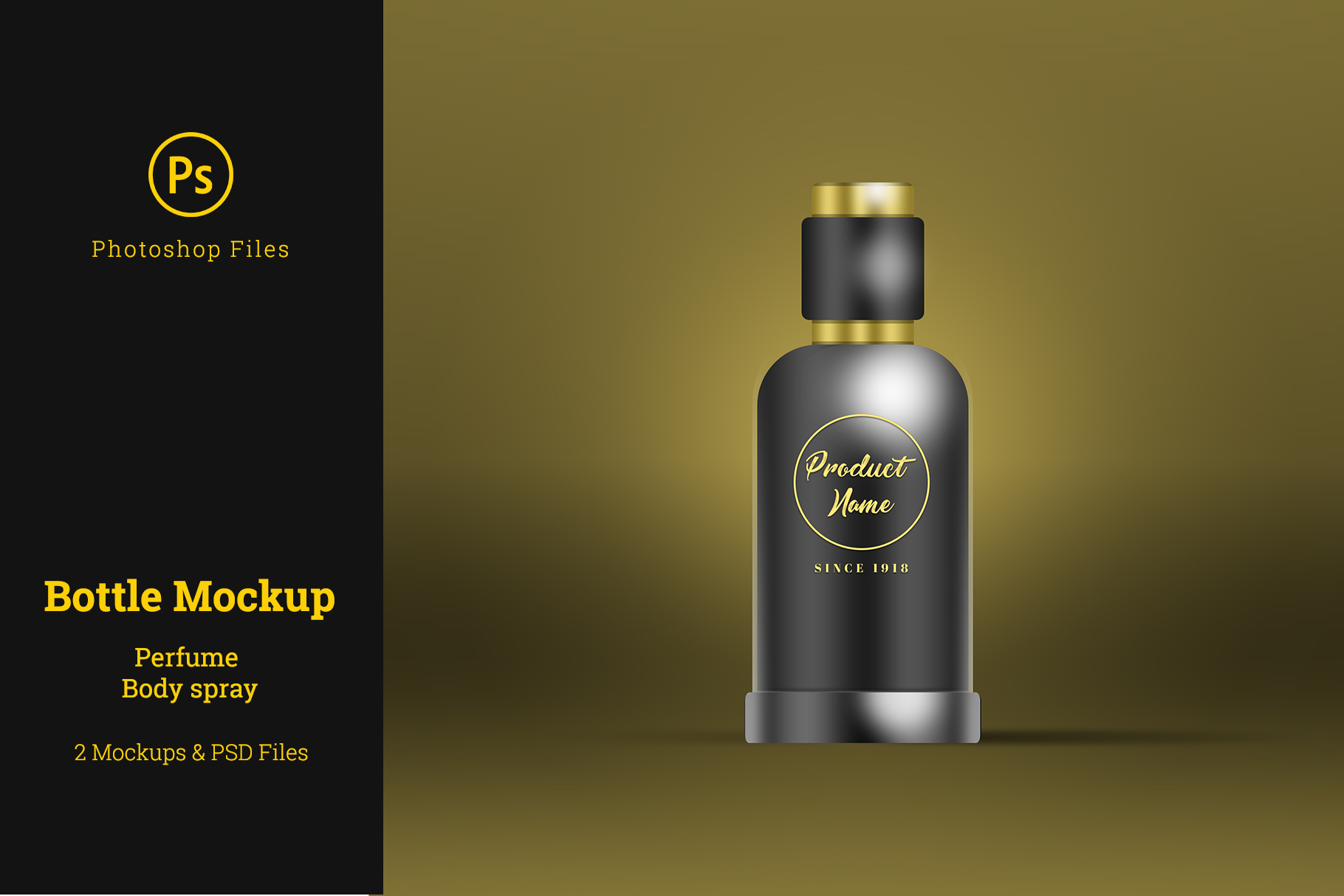 Perfume Bottle Mockup Photoshop